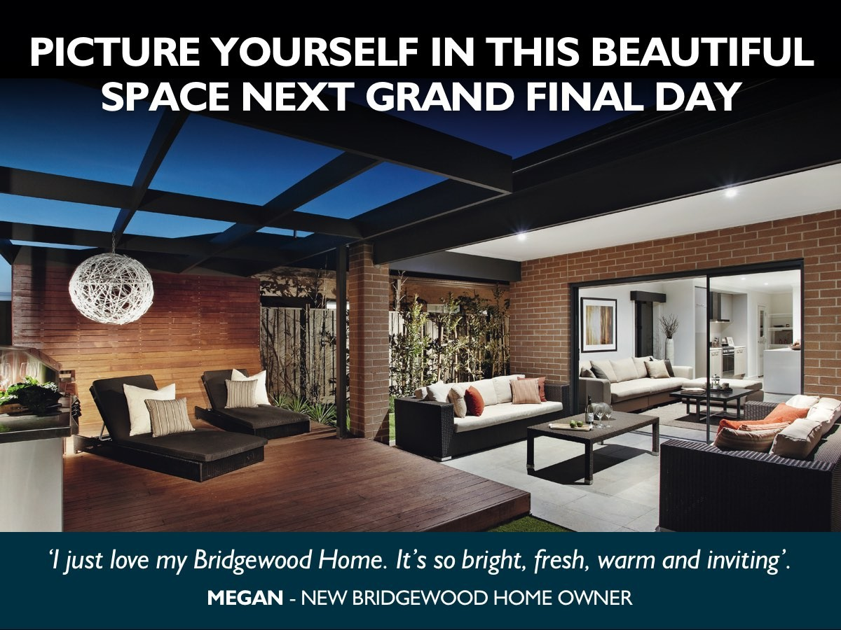 Picture yourself in this beautiful space next grand final day